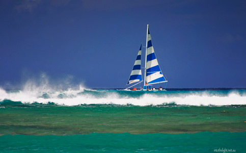 Hawaii striped sails
